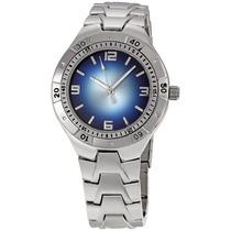 Relógio Masculino Fmd Silver Tone Plated Prata Azul