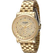 Relógio Mondaine Urbano Vidro Cristal Dourado 78217lpmgds1