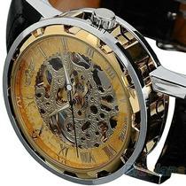 Relógio Esqueleto Automático,4,1 Cm De Diametro