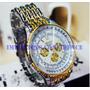 Relógio De Pulso Masculino Dourado Rosra Luxo + Brinde !!!