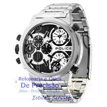 Relógio Police Multi-função Tri-time Python Pl13595js/04m