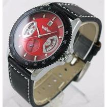 Relógio Pulso Winner Automatico Movim Mecânico Vermelho