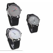 Relógio Quartz Feminino Pulseira Em Pu M/ Watch Suiss Novo