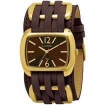 Relógio Lince Lqck017l M2mx Feminino Dourado Couro- Refinado