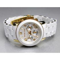 Relógio Original Michael Kors Branco Mk5145 Frete Grátis