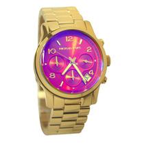 Relógio Michael Kors Mk5939 Dourado C Rosa Original Lindo
