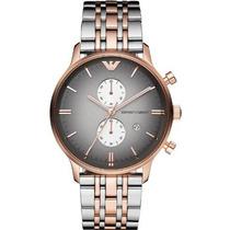 Relógio Emporio Armani Ar1721 Prata Preto E Rose Garantia 1