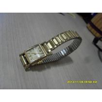 Espetacular Relógio Antigo Wittnauer Feminino,banhado A Ouro