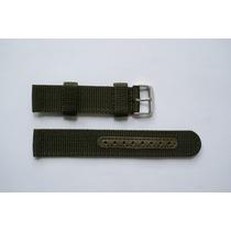 Pulseira Nylon Militar Verde 18mm