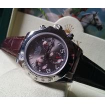 Relógio Eta Valjoux Modelo Daytona Com Pulseira De Couro