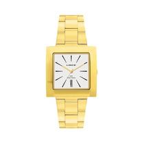 Relógio Lince Feminino Dourado + Kit Pulseiras