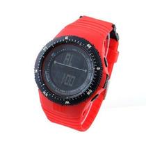 Relógio Militar Skmei Vermelho + Box E Prota Entrega