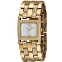 Relógio Mondaine Feminino Clássico Dourado 94589lpmndm1
