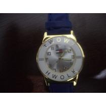 Relógio Feminino Twowt Hwolk Coroa E Visor Dourado Redondo