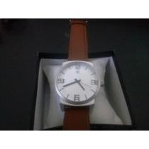 Relógio Calvin Klein,pulseira Em Couro Frete Gratis