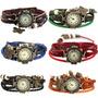 Relógio Feminino Vintage Diversas Cores E Diversos Pingentes