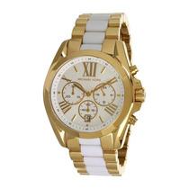 Relógio Original Mk5743 Michael Kors Dourado E Branco