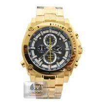 Relógio Promoção Bulova Dourado Fundo Preto Sedex Promoção