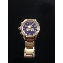 Relógio Nixon Chrono Dourado Melhor Preço Do Mercado Livre