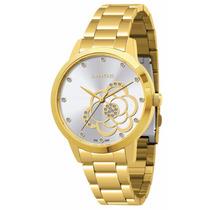 Relógio Lince Dourado Feminino (orient) Lrg4178l Prova Dágua