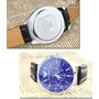 Lindo Relógio Pulso Mostrador Azul