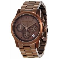Relógio Luxo Michael Kors Mk5492 Chocolate Promocional