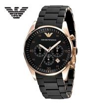 Relógio Emporio Armani Ar5905 100% Original Preto Rosé