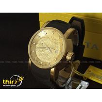 Invicta S1 Yakuza 12790 Automatico Banhado Ouro 18k