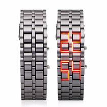 Relógio Masculino Samurai - Led Vermelho