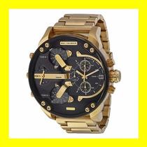 Relógio Diesel Dz7333 Mr. Daddy Dourado Fundo Preto |chief