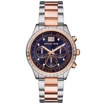 Relógio Feminino Michael Kors Mk6205 Prata/dourado Sem Caixa