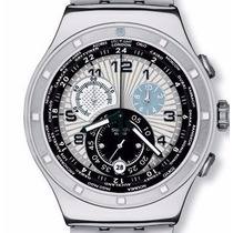 Relógio Swatch Chronograph Gigante,todo Em Aço,lindo,troco!