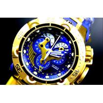 Relógio Invicta 18530 Gold Azul Subaqua Noma V 5 Original !