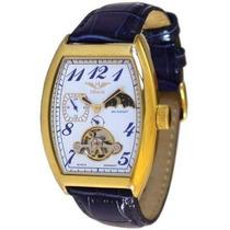 Relógio Alemão Minoir Montgolfiere Banhado A Ouro.novo.