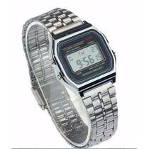 Relógio Cassio Unissex Retrô Vintage Prata Pronta Entrega