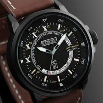 Relógio Militar Military Royale Suíço Mr084 Pulseira Marrom