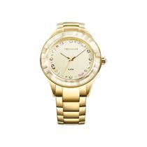 Relógio Feminino Technos Crystal Swarovski 2036lms/4x Luxo