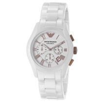 Relógio Emporio Armani Ar1416 Cerâmica Branco Original