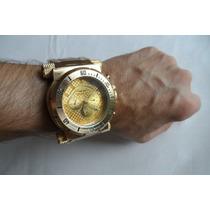 Relógio De Luxo Invicta Dourado Masculino