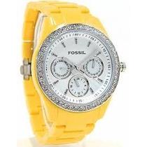 Relógio Fossil Feminino Bracelet Amarelo (importado)