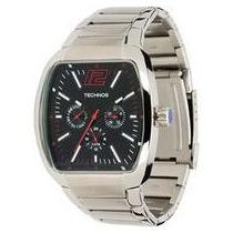 Relógio Technos Quadrado Prata Esportivo Em Aço 6p29afr/1p