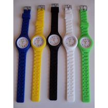 5 Relógios De Pulso, Silicone, Importado 150,00 Frete Grátis