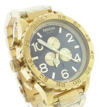 Relógio Nixon Dourado Preto Men´s 51-30+sedex Grátis+garant