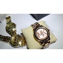 Relógios Femininos Modelo Mk5473 Dourado Gold E Rose