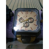 Relógio Calvin Klein Dourado Quadrado