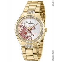 Relógio Champion Feminino Cn29543h Dourado - Original