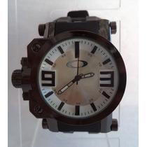 Relógio Masculino Oakley C/ Visorbranco Resist. De Safira