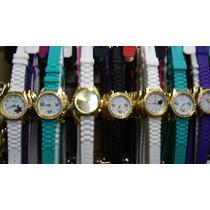 Kit Relógios Feminino Pulseira Silicone Atacado Lote C/10
