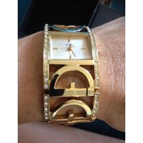 Relógio Bracelete Guess Dourado, Original, Comprado Em Roma.