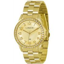 Relógio Lince Feminino, Dourada